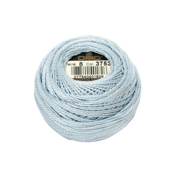DMC Coton Perle Bomuld Perlegarn Baby Blå 3753 -1