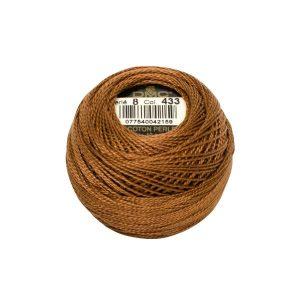 DMC Coton Perle Bomuld Perlegarn Brun 433