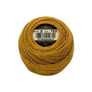 DMC Coton Perle Bomuld Perlegarn Gylden 783 -1
