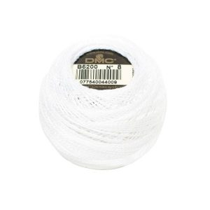 DMC Coton Perle Bomuld Perlegarn Hvid B5200