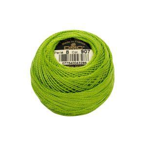 DMC Coton Perle Bomuld Perlegarn Klar lys grøn 907