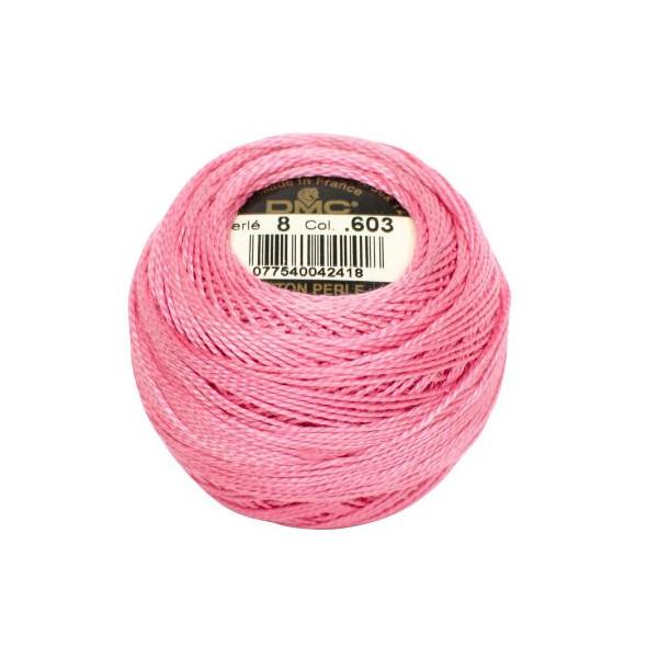 DMC Coton Perle Bomuld Perlegarn Klar lyserød 603 -1