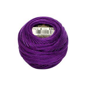 DMC Coton Perle Bomuld Perlegarn Mørk lilla 550