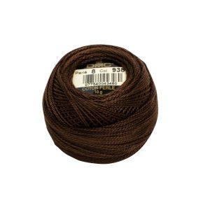 DMC Coton Perle Bomuld Perlegarn Mørkebrun 938