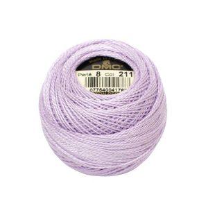 DMC Coton Perle Bomuld Perlegarn Pastel lilla 211