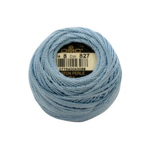 DMC Coton Perle Bomuld Perlegarn Pastelblå 827
