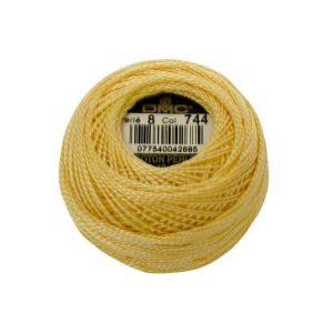 DMC Coton Perle Bomuld Perlegarn Pastelgul 744