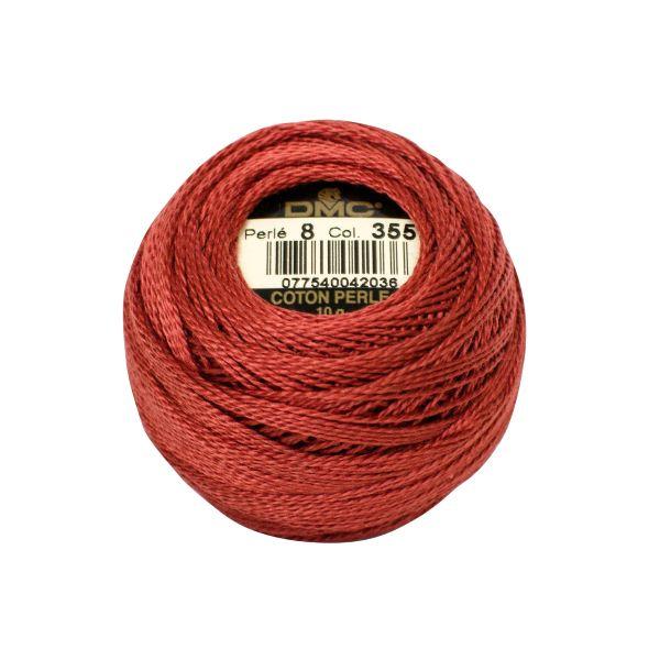 DMC Coton Perle Bomuld Perlegarn Rødbrun 355