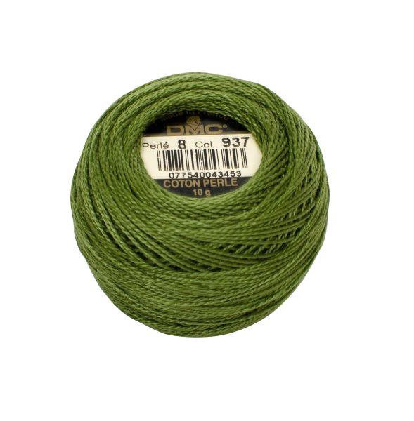 DMC Coton Perle Bomuld Perlegarn Skovgrøn 937