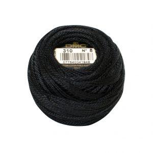 DMC Coton Perle Bomuld Perlegarn Sort 310