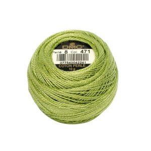 DMC Coton Perle Bomuld Perlegarn Støvet grøn 471
