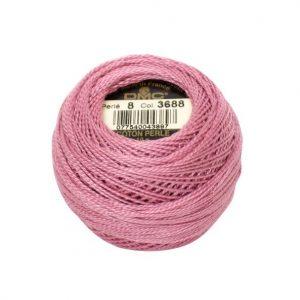 DMC Coton Perle Bomuld Perlegarn Støvet lyserød 3688
