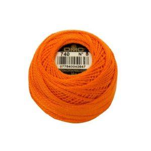 DMC Coton Perle Bomuld Perlegarn appelsin orange 740-1