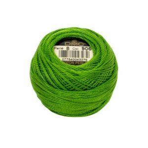 DMC Coton Perle Bomuld Perlegarn klar grøn 906