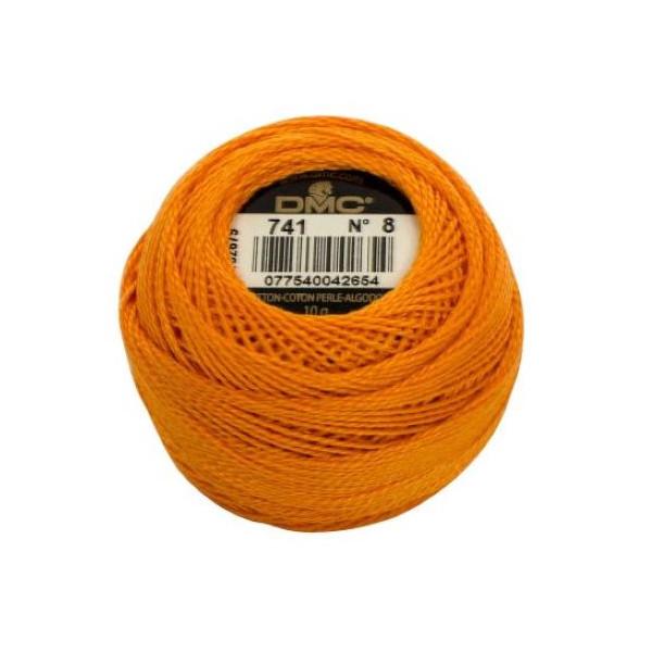 DMC Coton Perle Bomuld Perlegarn klar orange 741