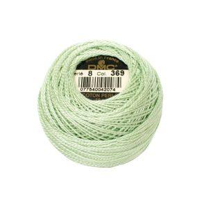 DMC Coton Perle Bomuld Perlegarn pastelgrøn 369