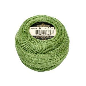 DMC Coton Perle Bomuld Perlegarn støvet grøn 3347