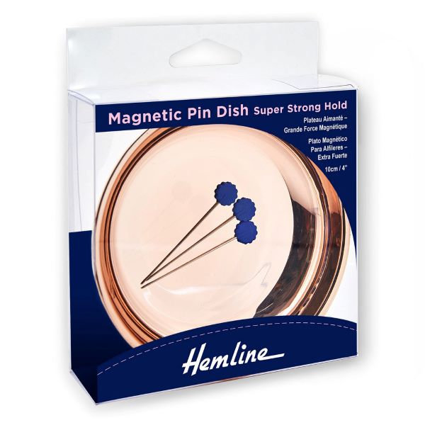 Magnetisk nåleskål rosa guld nålepude