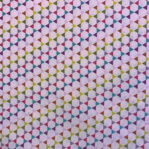 Patchworkstof trekanter sekskanter multifarvet