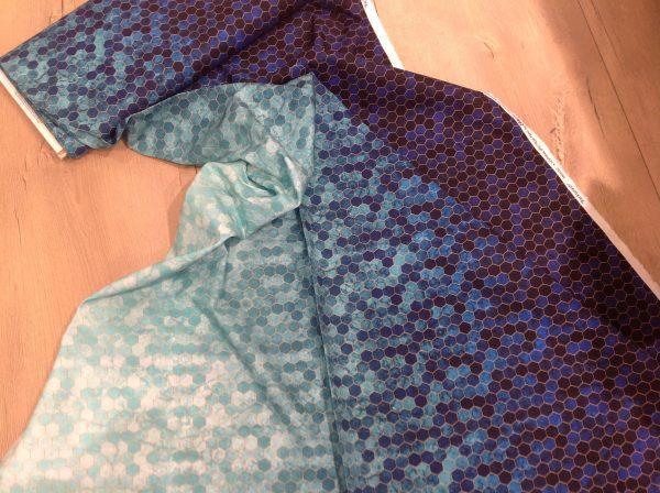 sekskanter blå