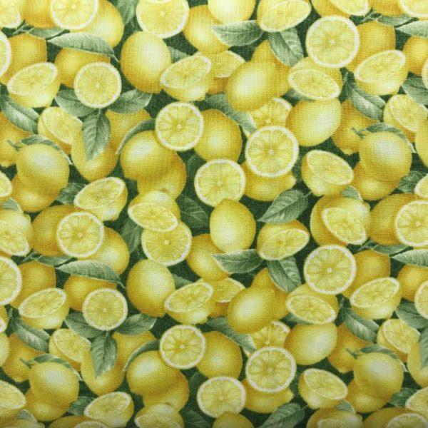 Patchwork Stof Citroner Bomuld