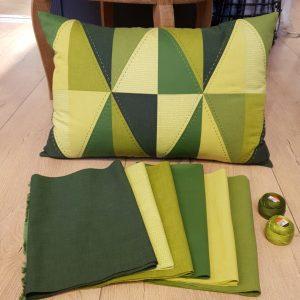 Grøn stofpakke
