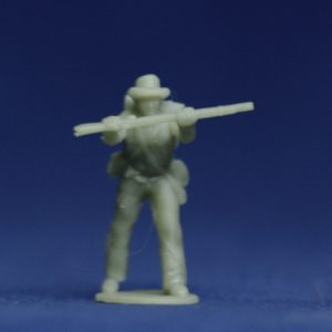 Soldier pressing rifle in hat v1