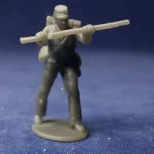 Soldier pressing rifle v1 in kepi