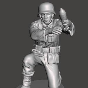 German soldier loading mortar AS