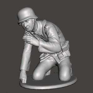 German soldier aiming mortar AS