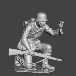 German soldier holding on wall or cover AS