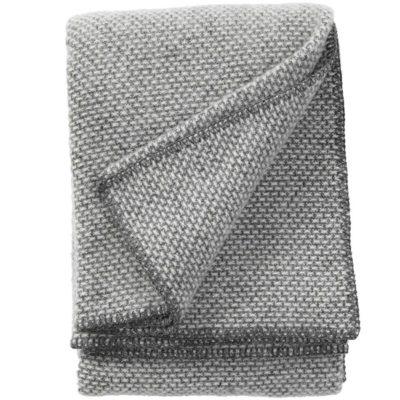 domino wiegdeken grijs klippan merino wol