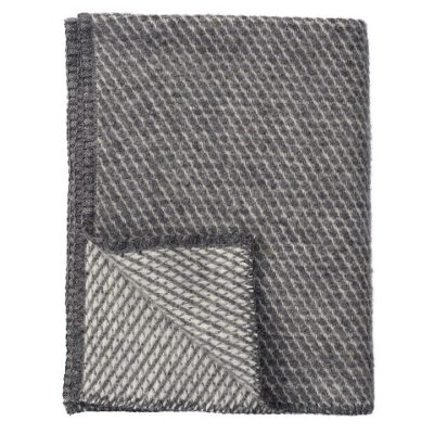 Klippan eco-wol ledikantdeken Velvet grijs / grey