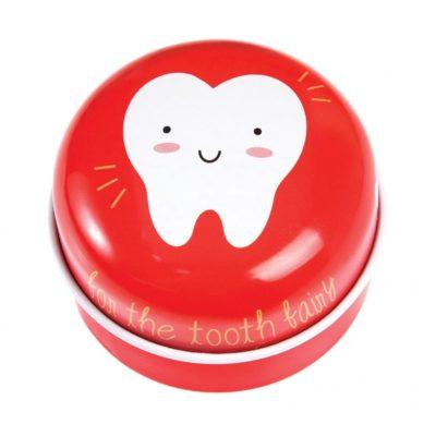 Tinnen tandendoosje voor de tandenfee.