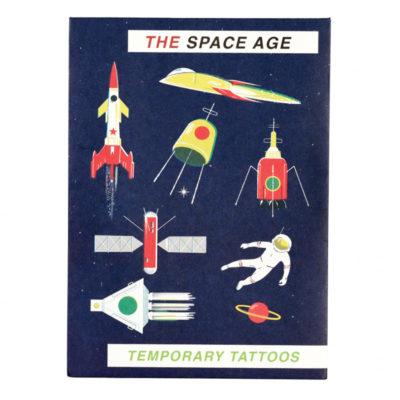 space tattoos tijdelijke tattoos rex London ruimtevaart raket