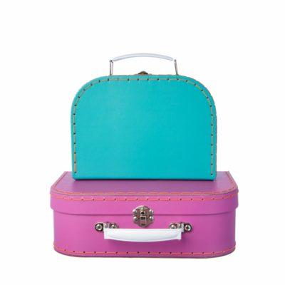 sass & belle fel blauw koffer