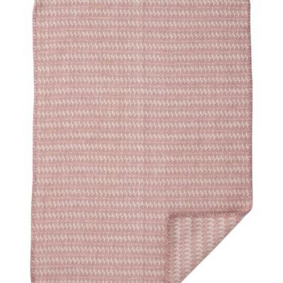 wiegdeken klippan wol hypoallergeen roze pink sumba