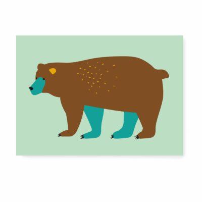 verjaardagskaart kaartje ansichtkaart beer groen