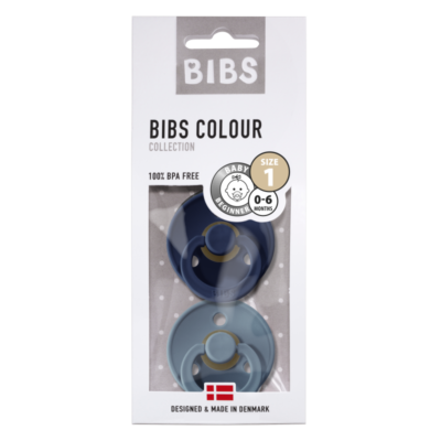 BIBS fopspeen blister T1 0-6 maanden Deep space/petrol