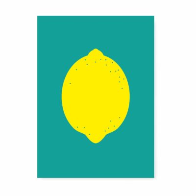 kaartje ansichtkaart lemon citroen zomaar