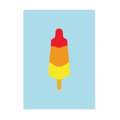 zomaar kaartje ijsje raketje ansichtkaart