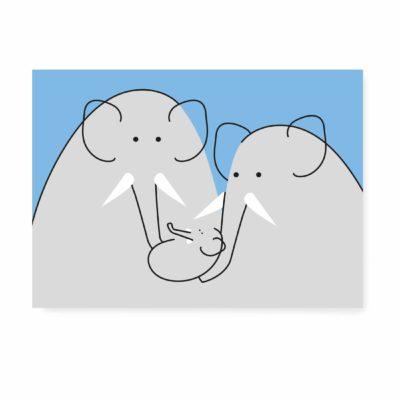 geboortekaartje geboorte kaartje ansichtkaart een jongen
