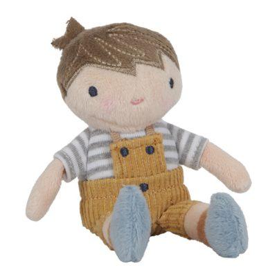 little dutch knuffel pop Jim 10 cm, zachte pop jongenspop