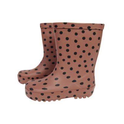 vanpauline laarzen brownpink dots