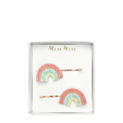 merimeri haarspeldjes glitter regenboog