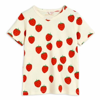 mini rodini strawberry t-shirt