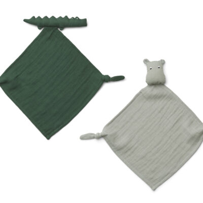 liewood Yoko mini cuddle cloth crocodile / hippo 2 stuks