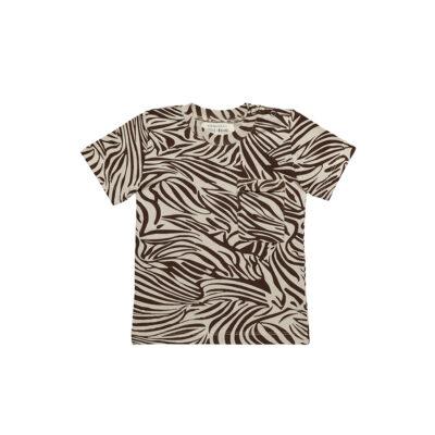 little Indians Boxy Tshirt Zebra