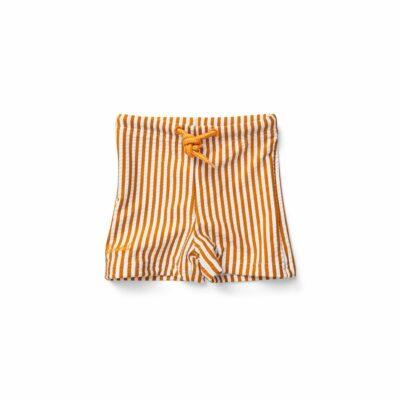 liewood seersucker swimpants mustard mustard sandy