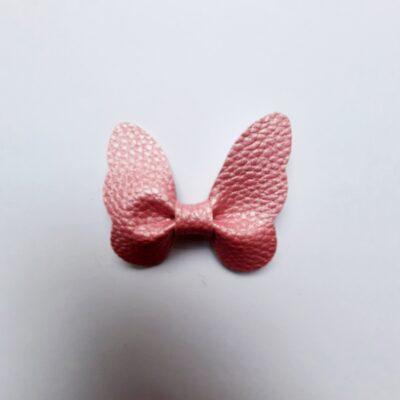 haarspeldjes vlinder metallic roze